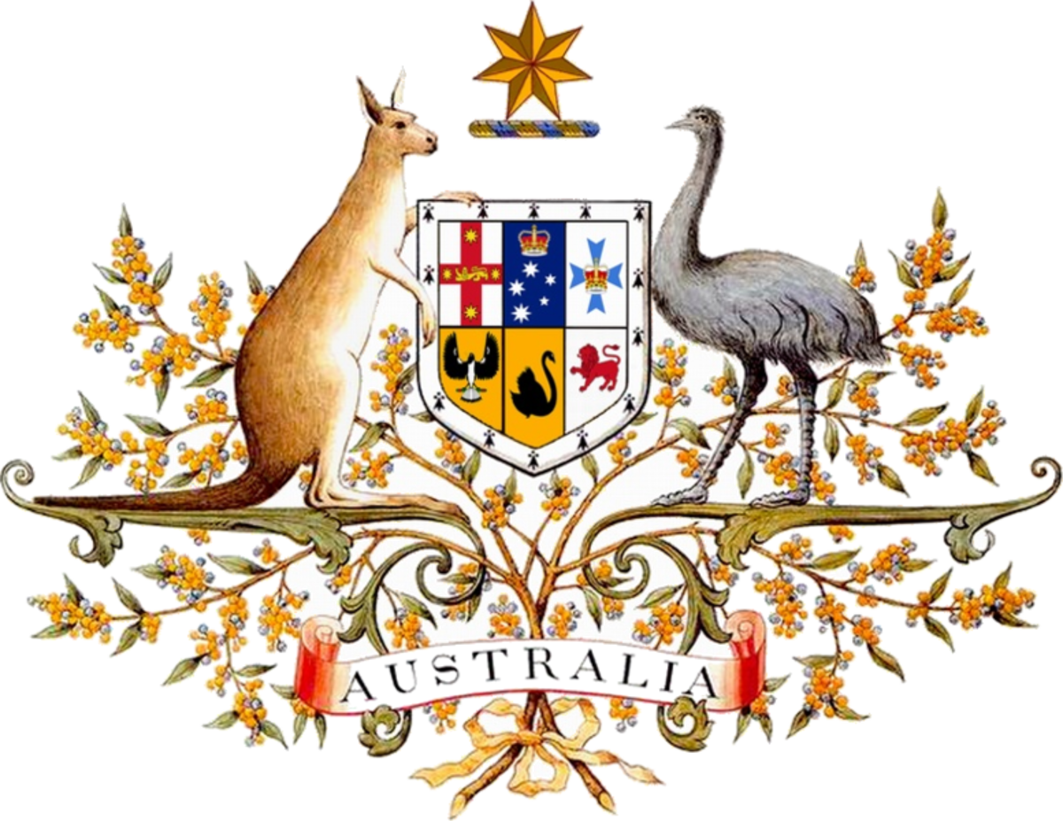 The emu takes pride of place on Australia's coat of arms.