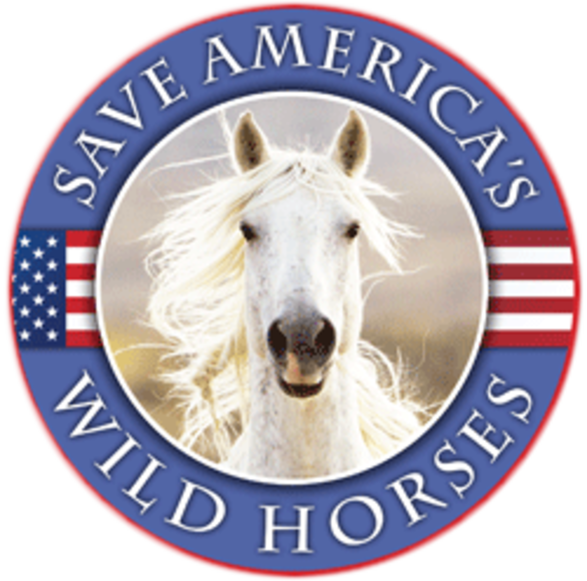 Wild Horse Freedom Federation has this emblem on their website.