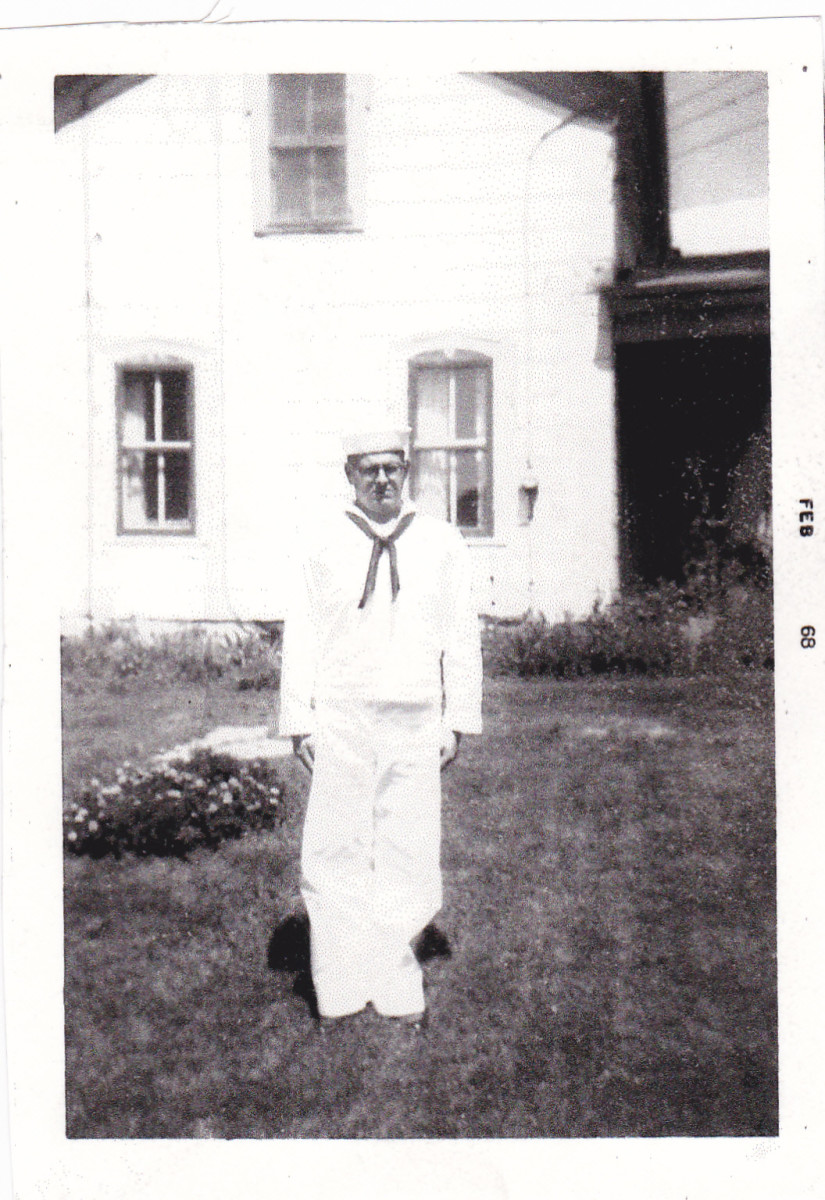 At home in August 1967 during my first 12 hour liberty in Navy Boot camp.