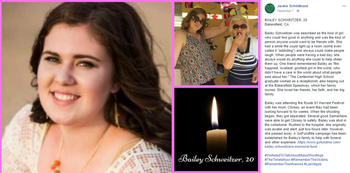 Jackie's tribute to Bailey Schweitzer, who lost her life in the Las Vegas shooting.