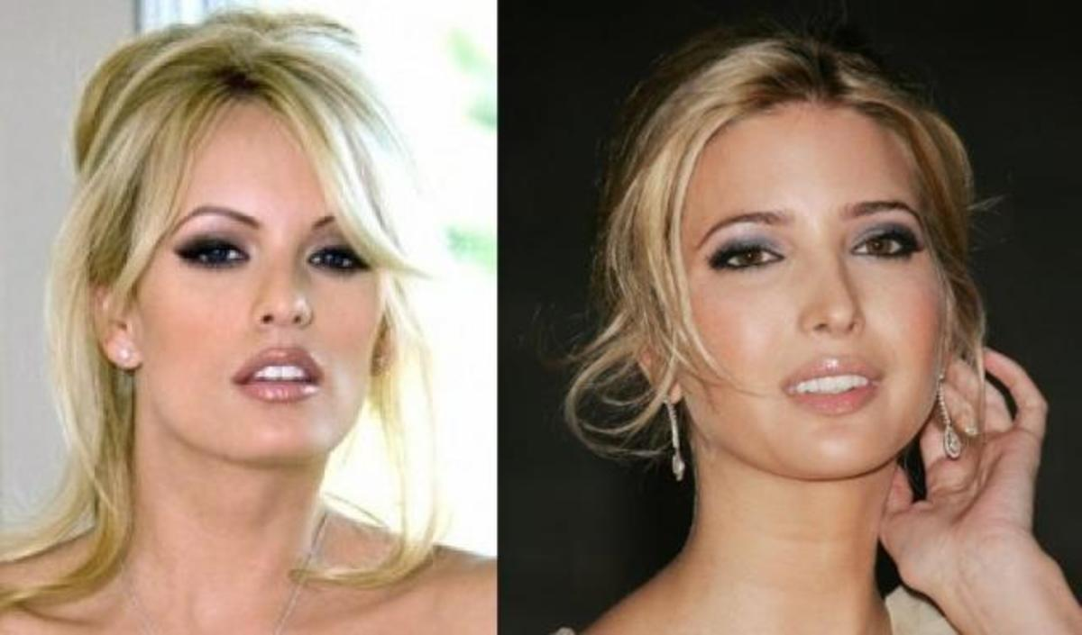 Stormy Daniels and Ivanka Trump bear a certain resemblance