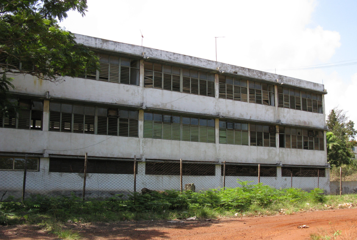 Countryside school building in the East of Cuba.