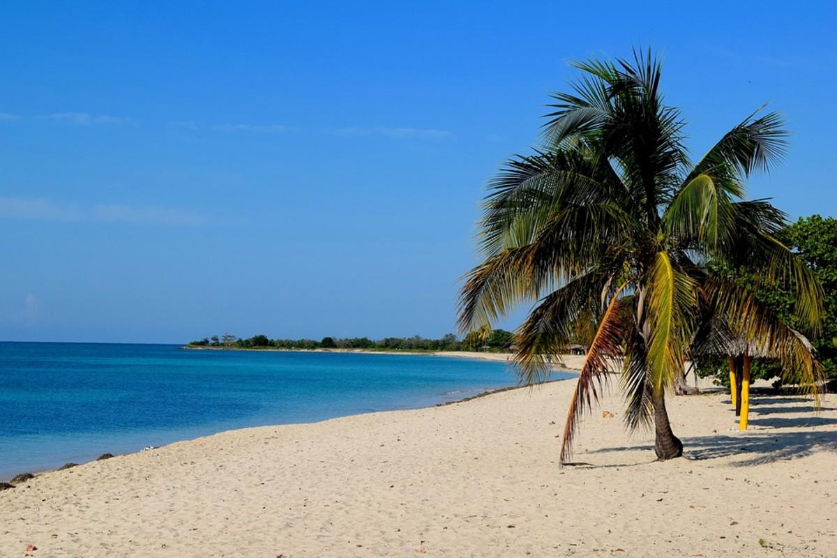 Beach on the south coast of Cuba
