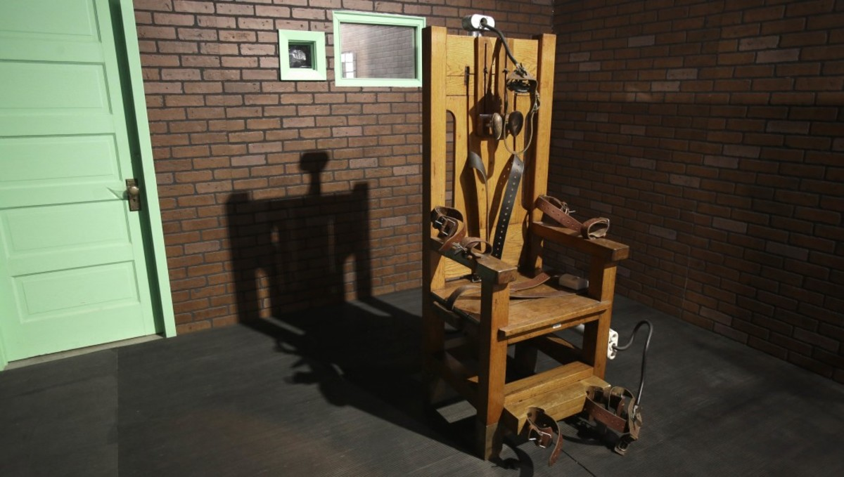 The electric chair—a form of capital punishment.