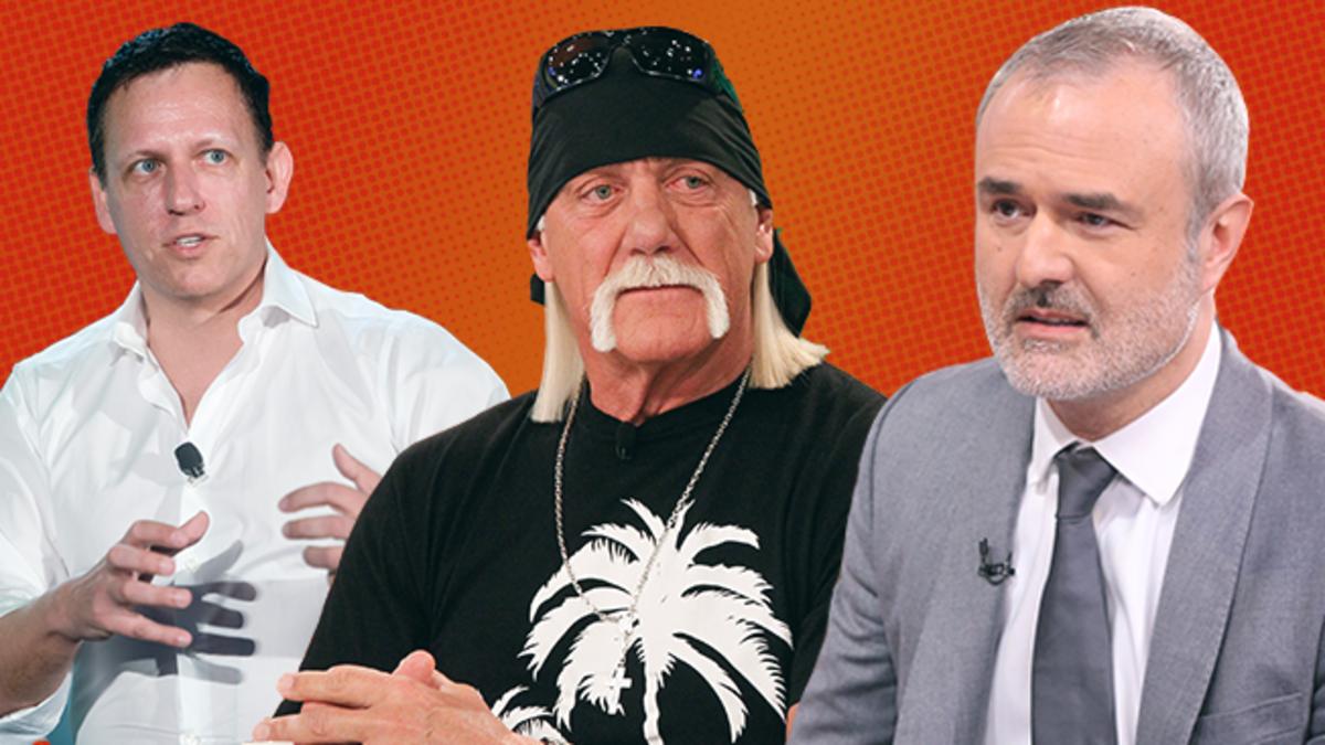 Thiel, Hogan, and Gawker founder Nick Denton.