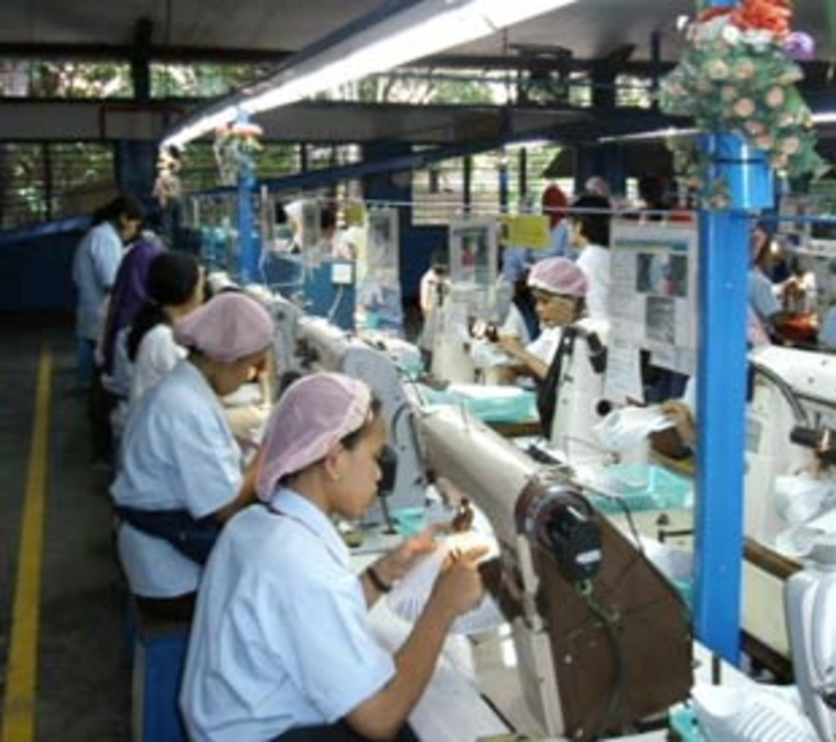 Women working at a sweatshop in Asia