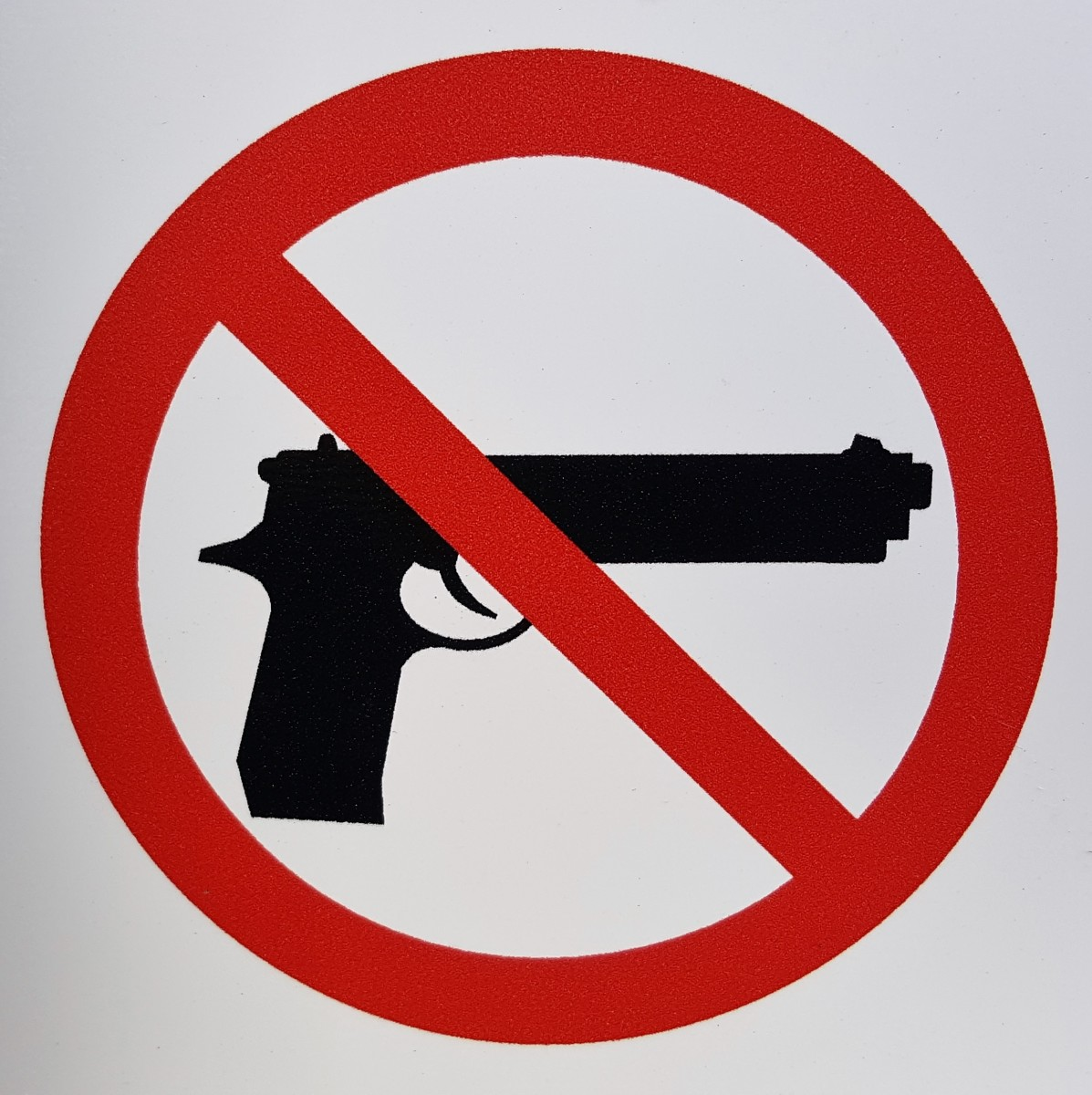 No guns allowed.