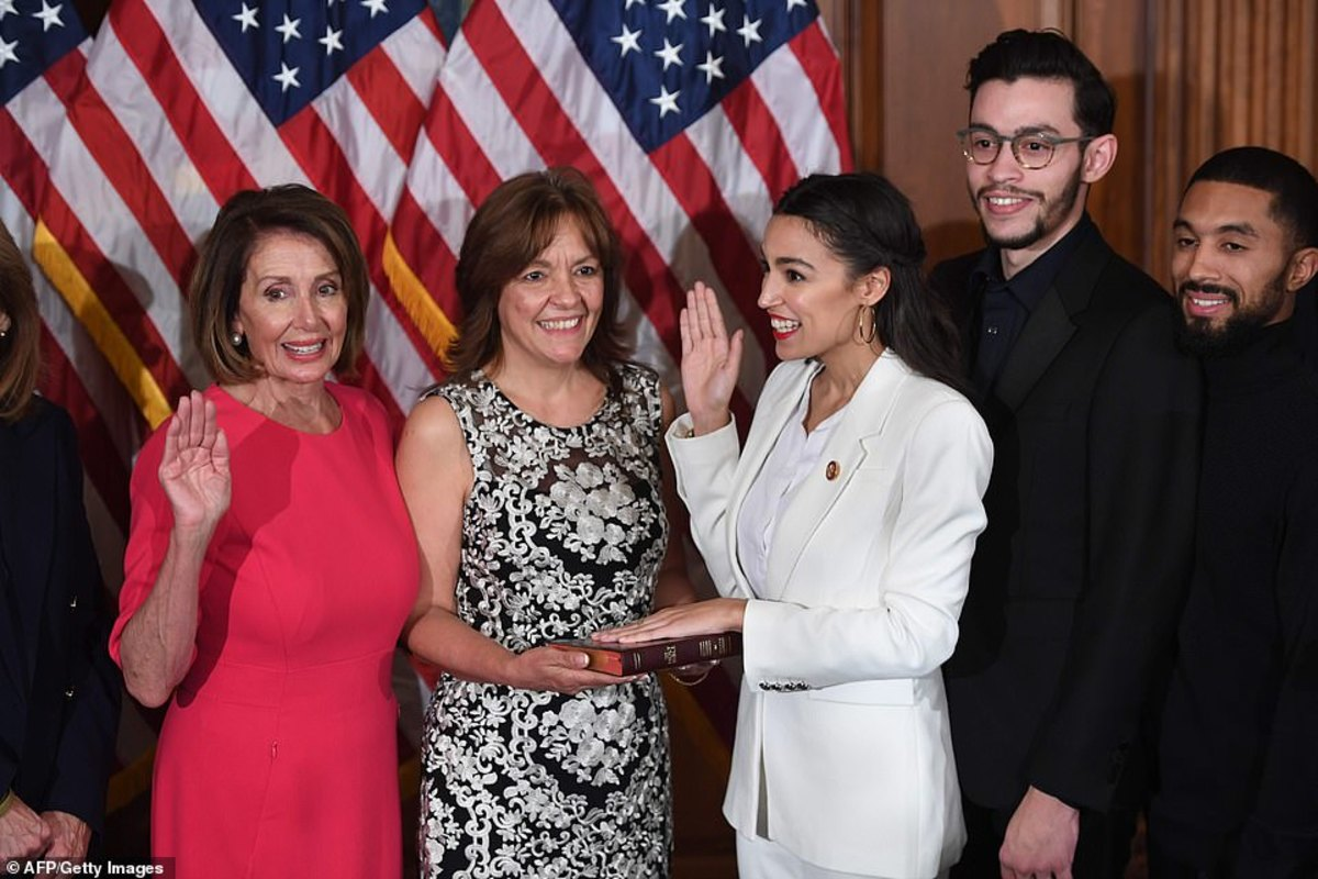 House Speaker Nancy Pelosi (D-CA), with AOC