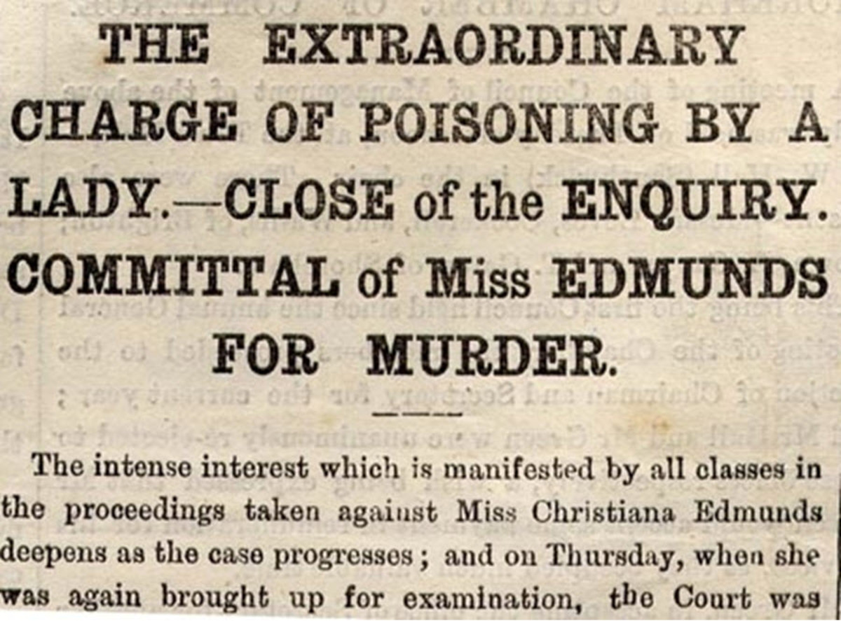 A Contemporary Newspaper Article About the Trial of Christiana Edmunds
