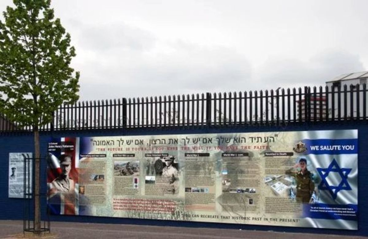 Loyalist mural at the junction of Beverley Street and Northumberland Street commemorating the IOF's Lt Col John Henry Patterson