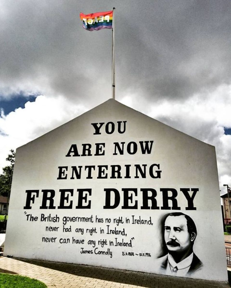 Free Derry Corner and it's message became a symbol of anti-imperialist resistance following the Battle of the Bogside.