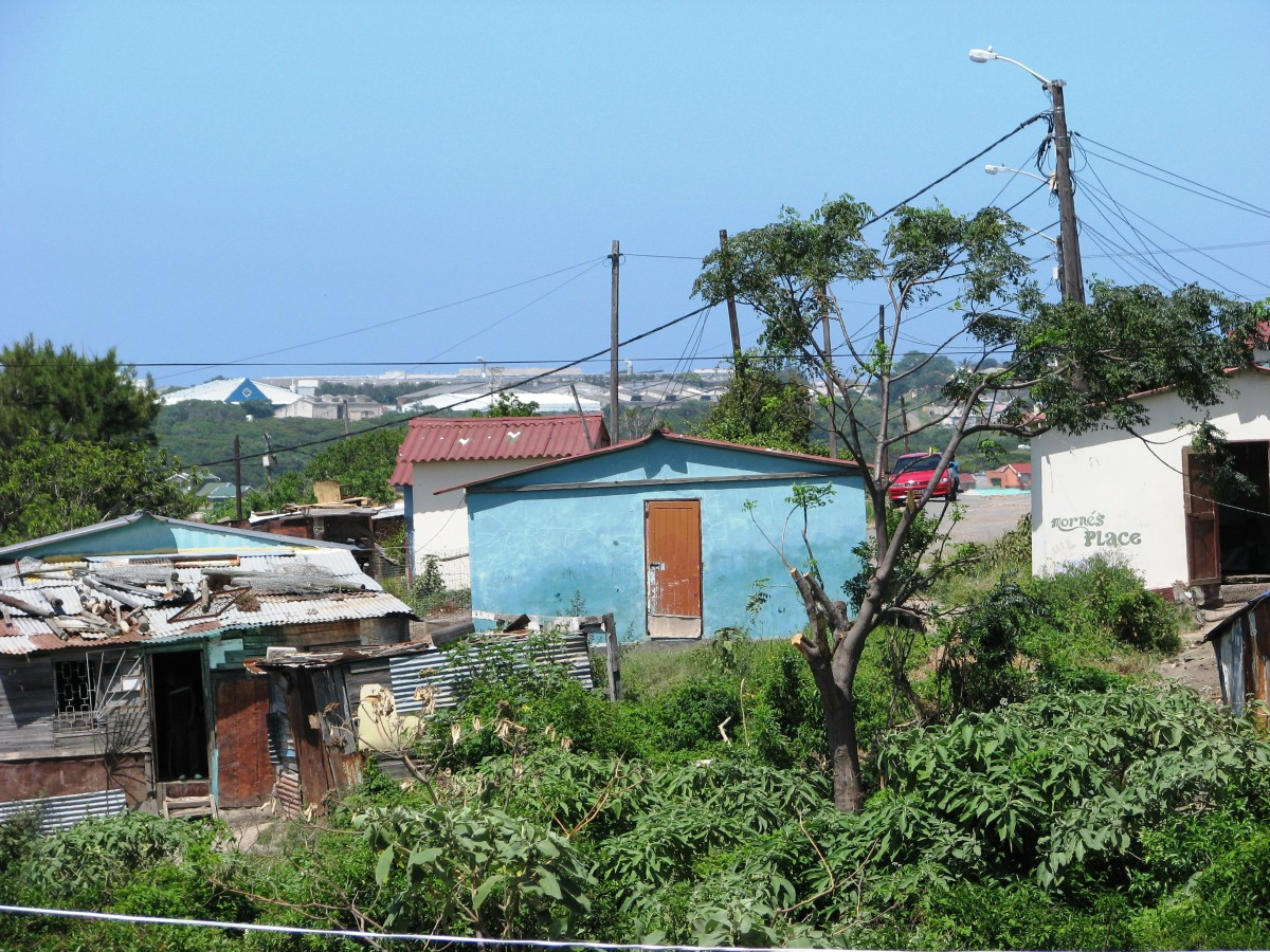 Informal settlement, Parkridge, East London