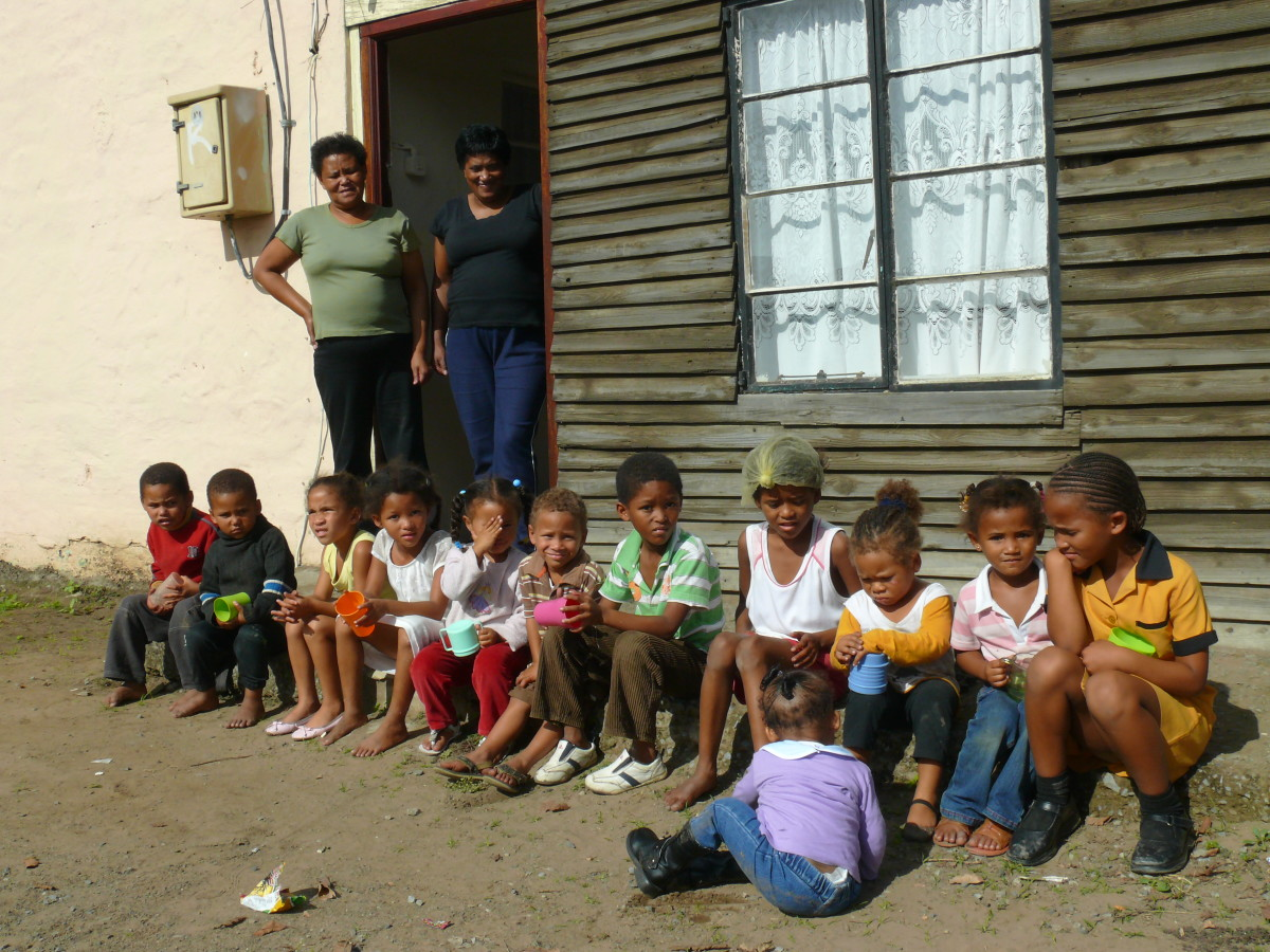 Children of the lost tribe at a soup kitchen in Peifferville, East London