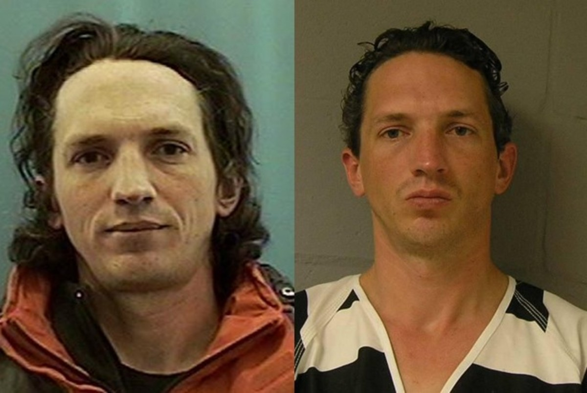 Israel Keyes' drivers license photo and mugshot following his arrest for the murder of Samantha Koenig.