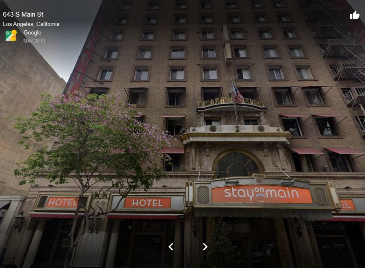 """A street view of the hotel after it's brand shift to """"Stay on Main"""""""