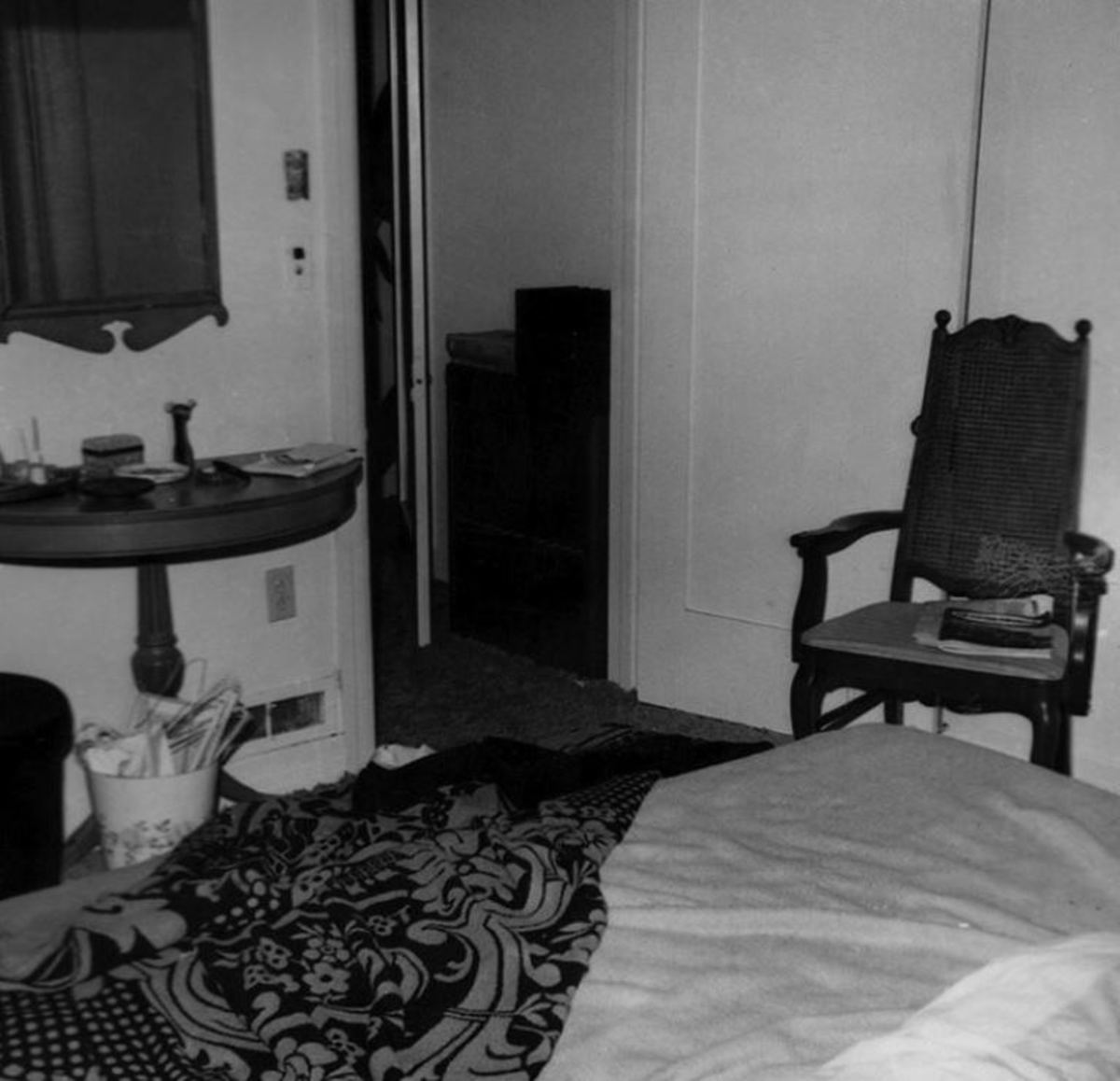 The bedroom where Rosemary was killed.