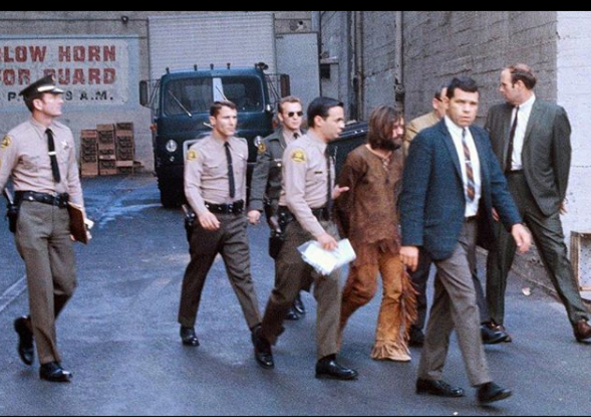 Charlie Manson being transferred to LA from Inyo County.