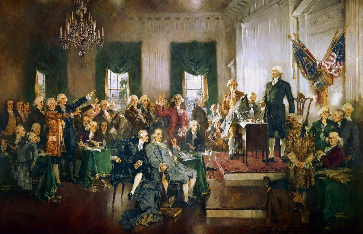 Signing of the U.S. Constitution.