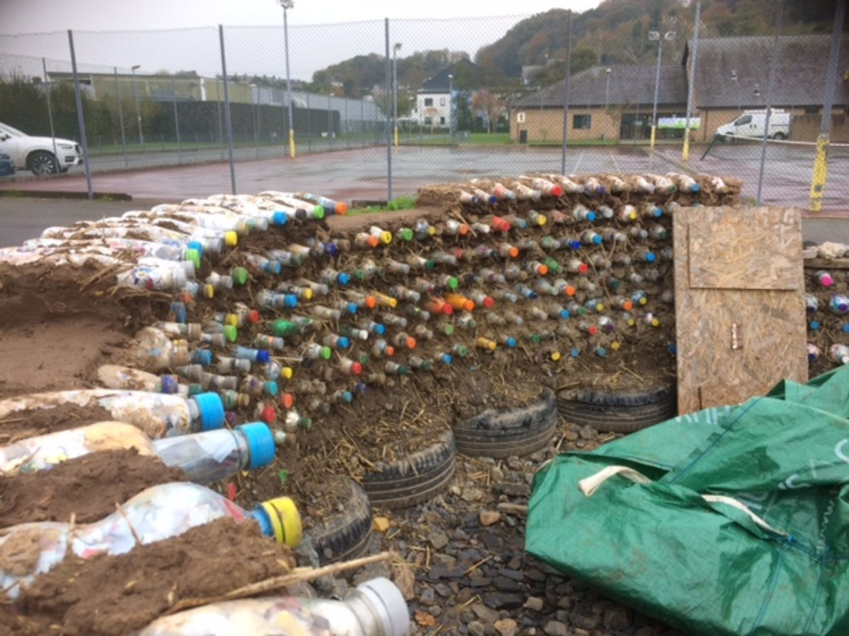 Incredible Edible's shed project made with Ecobricks