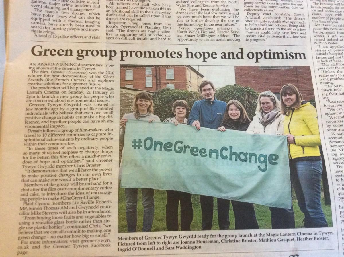 'One Green Change'