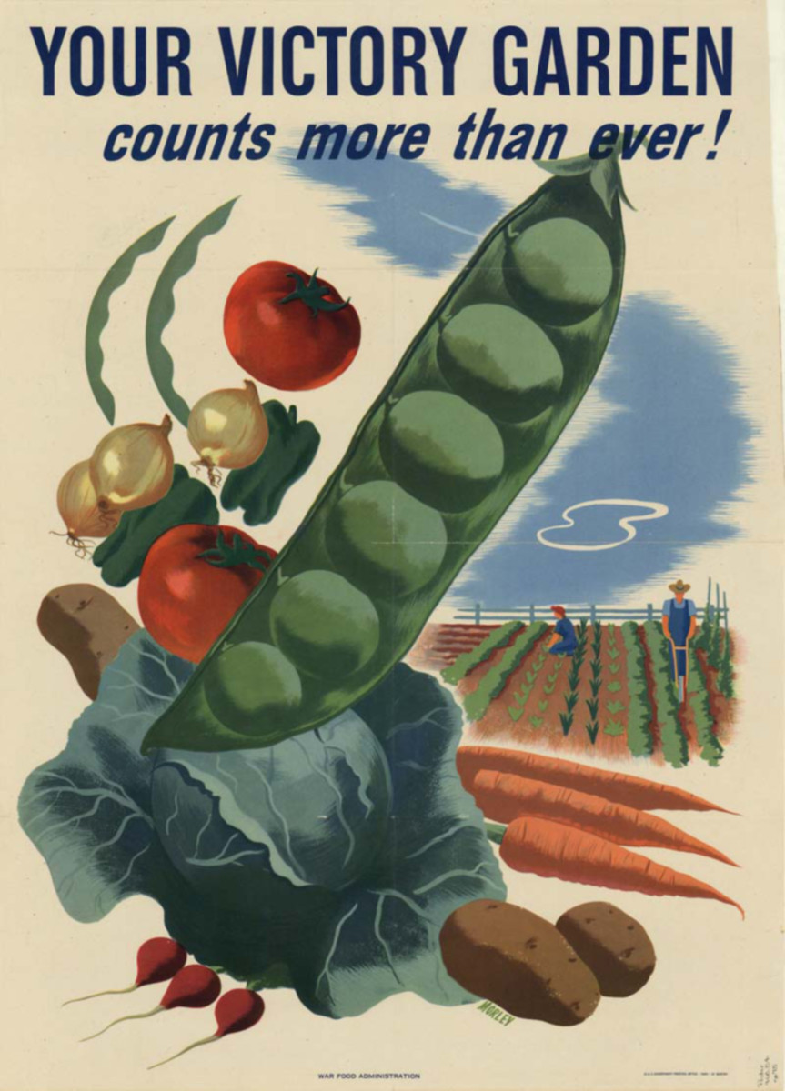 World War II Victory Gardens Poster.