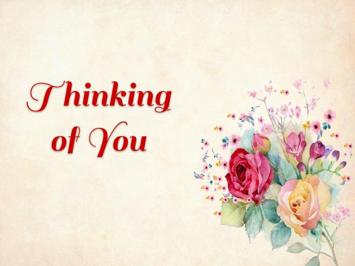 Send a card to let someone know you are thinking of them.