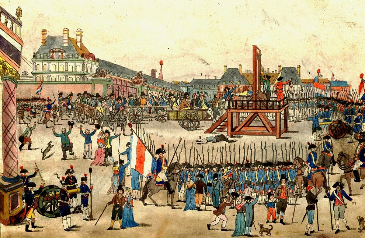 The Execution of Robespierre; by unknown painter (circ. 1794), courtesy of Wikimedia Commons