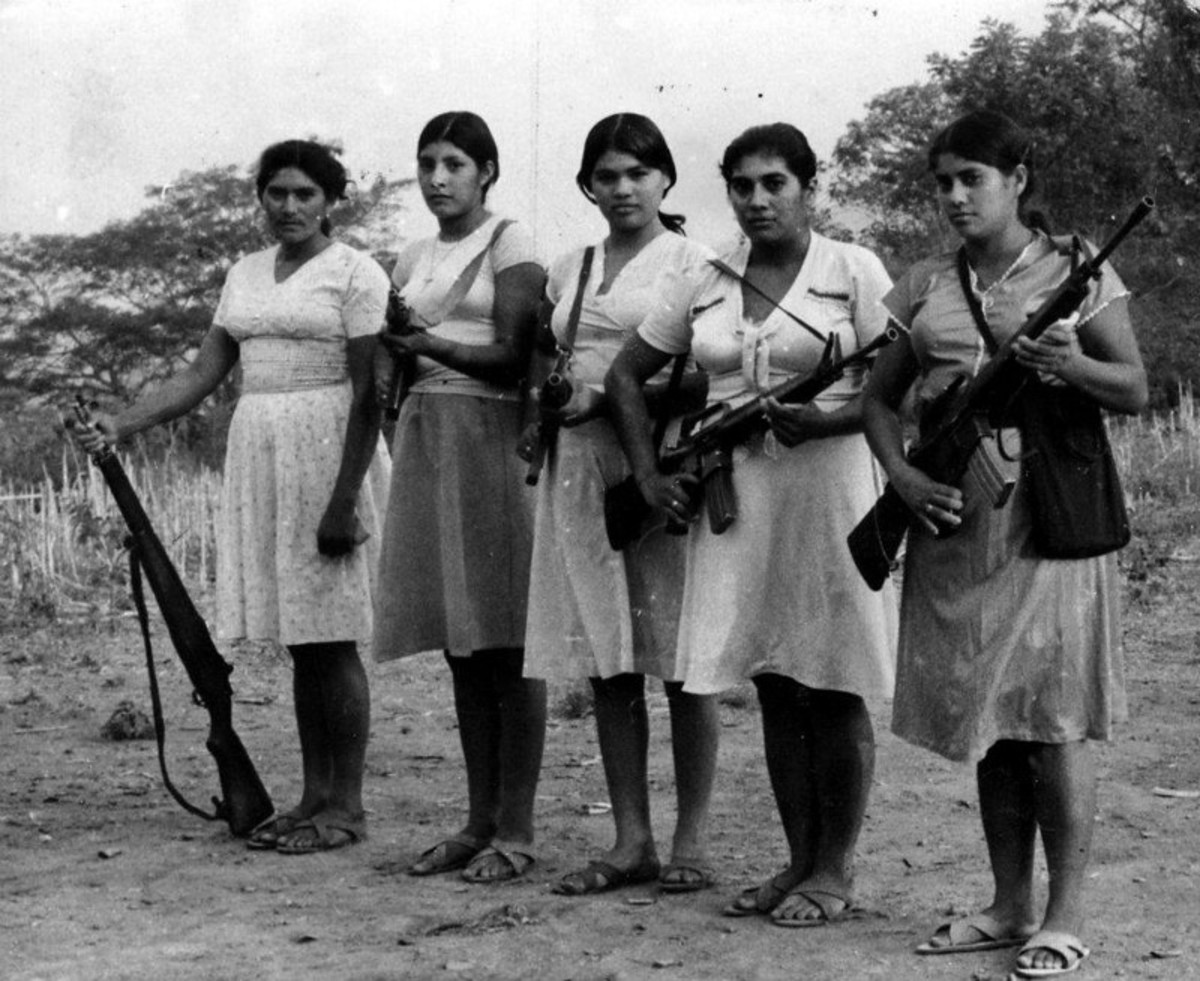 30% of the FMLN armed combatants were women. The vast majority, perhaps 60% or more were only involved in support roles. They performed medical and nursing duties, cooking and radio operator jobs.