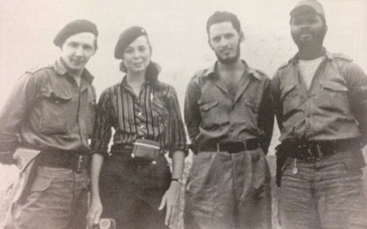 Raúl Castro, Vilma Espín, Jorge Risquet and José Nivaldo Causse (1958)-By Anonymous-Vilma Espín Guillois: El Fuego de la Libertad,
