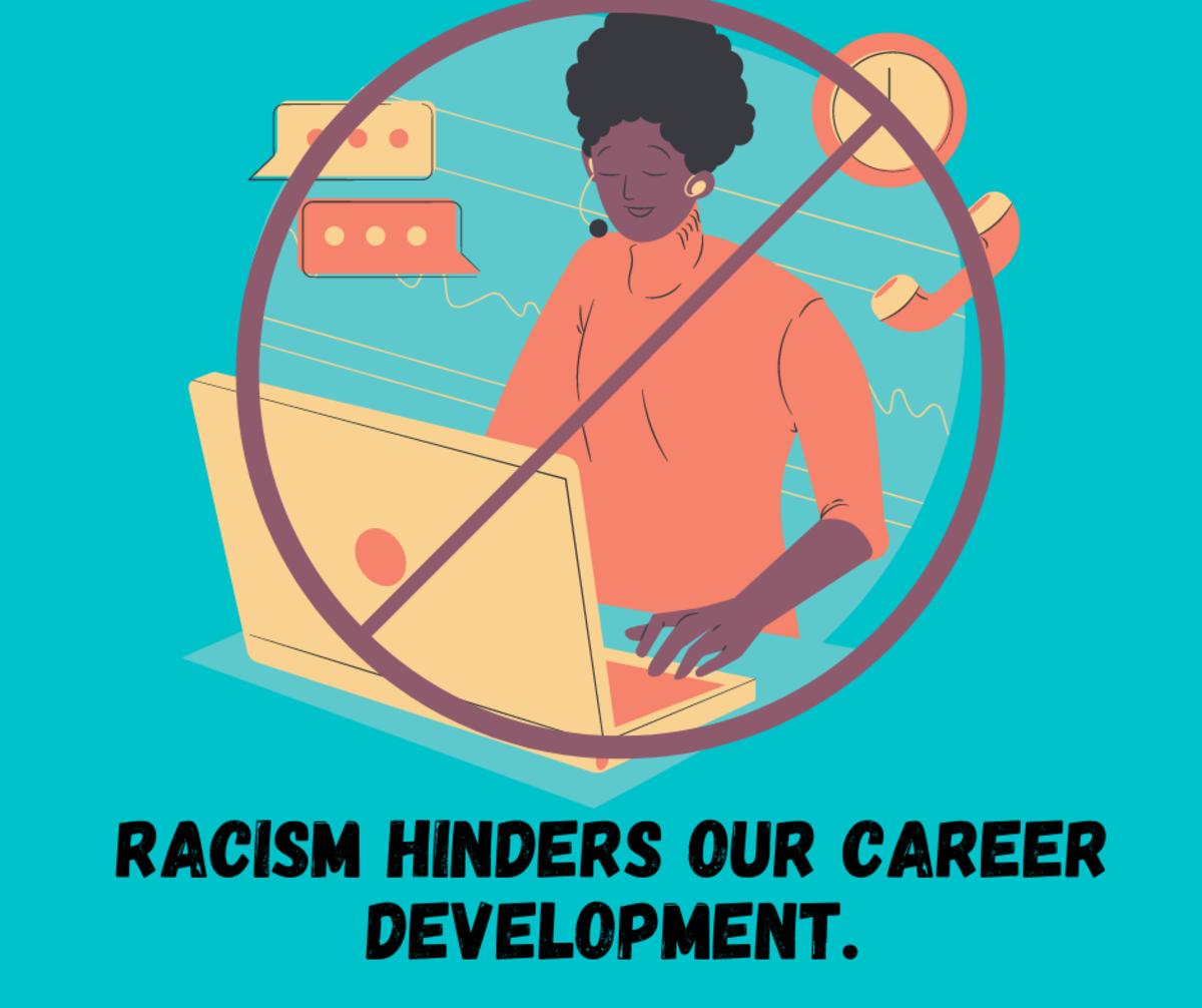 Racism hinders Africans' career development.