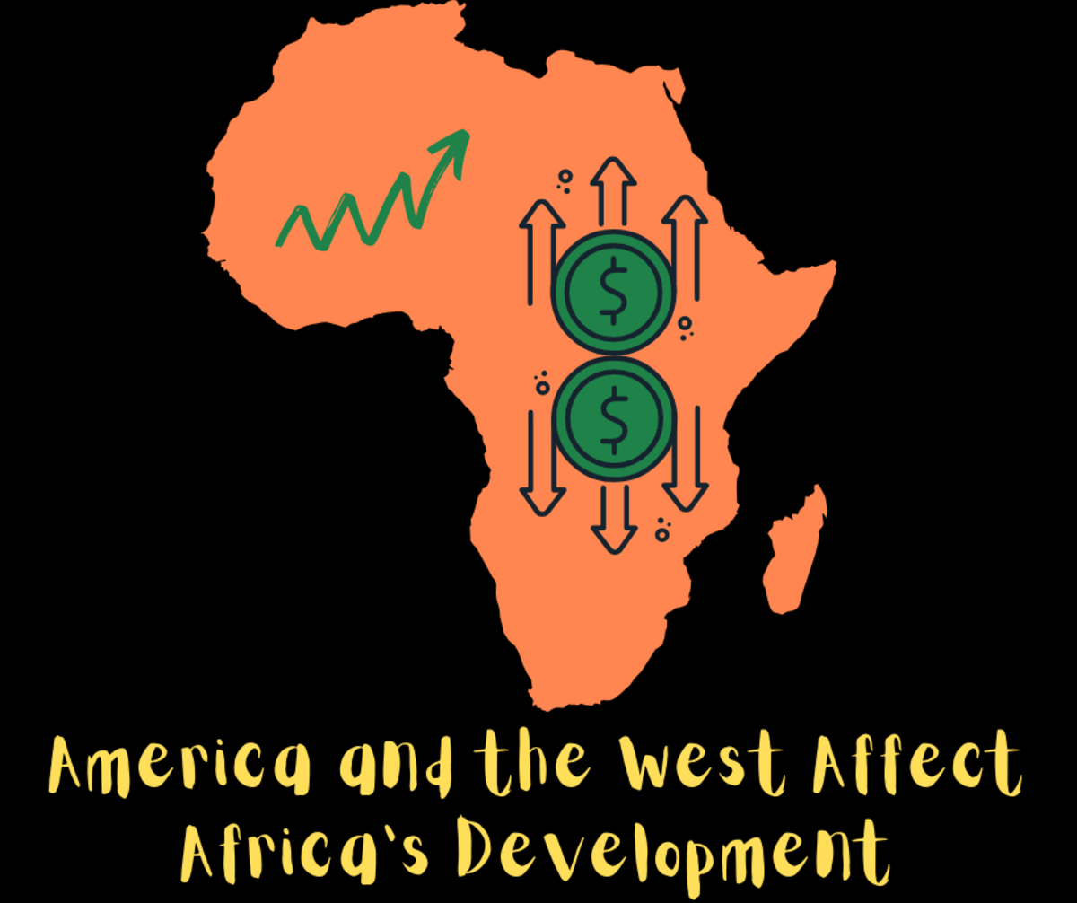 America and the West have a major impact on Africa's economic development.