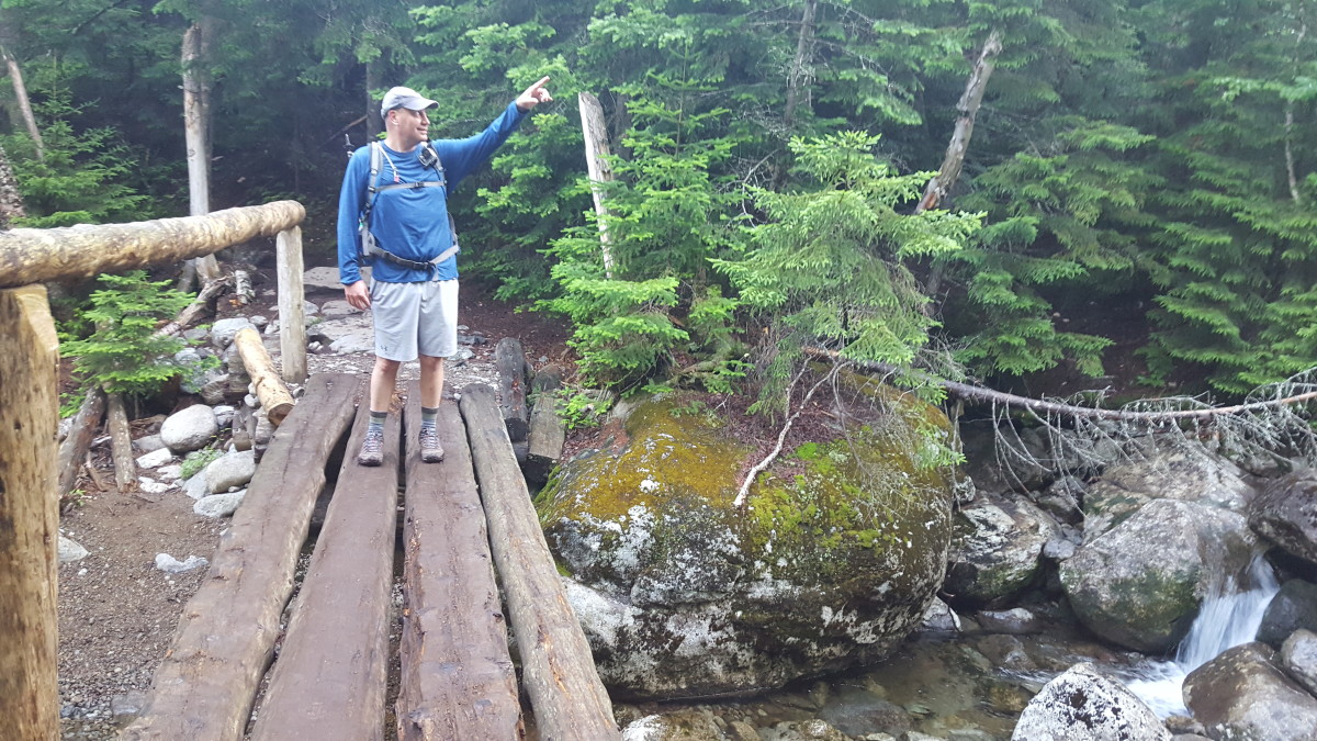 The bridge ten minutes after Phelps trail head