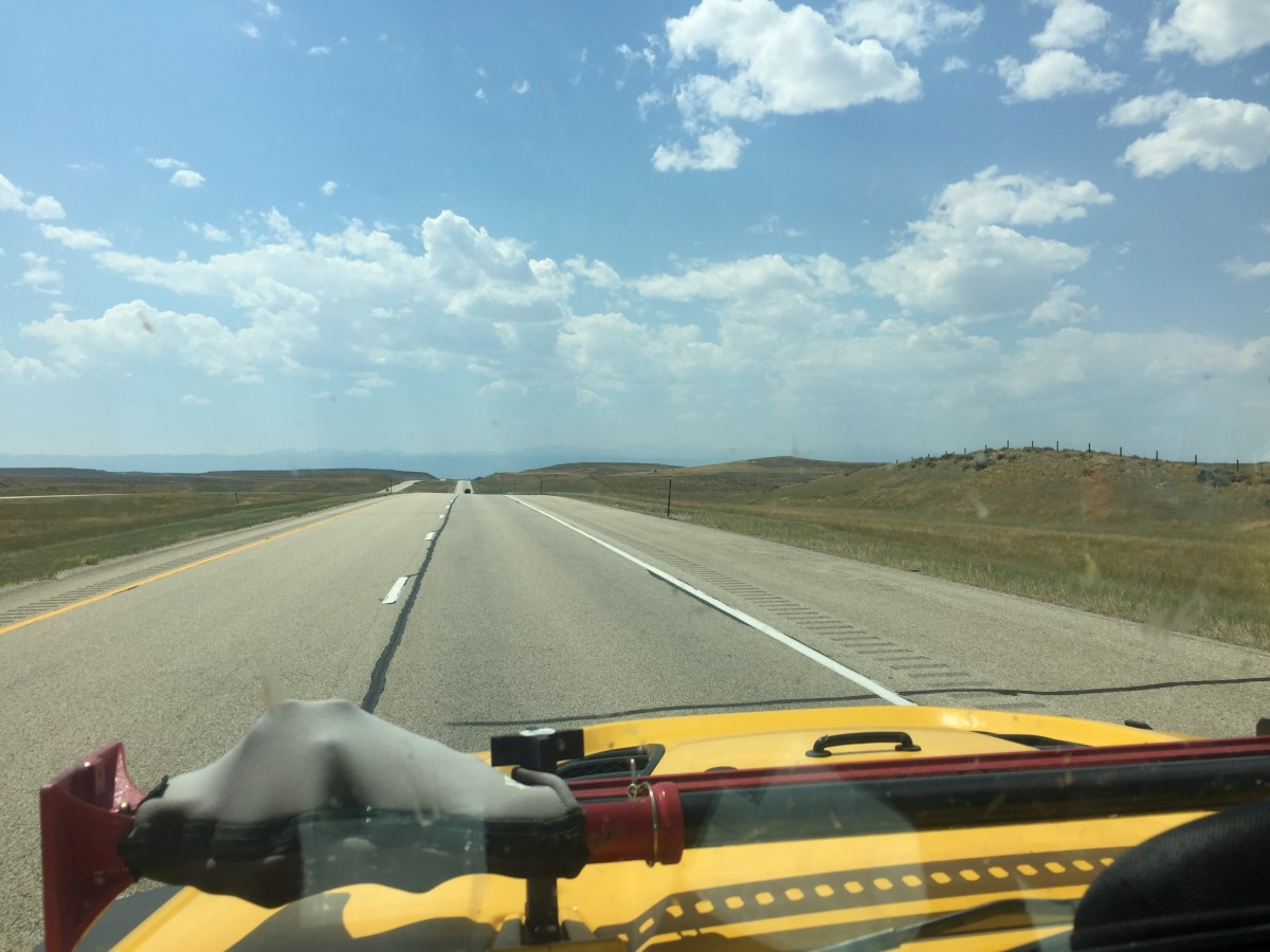 South Dakota Highway, 100 miles from anywhere.