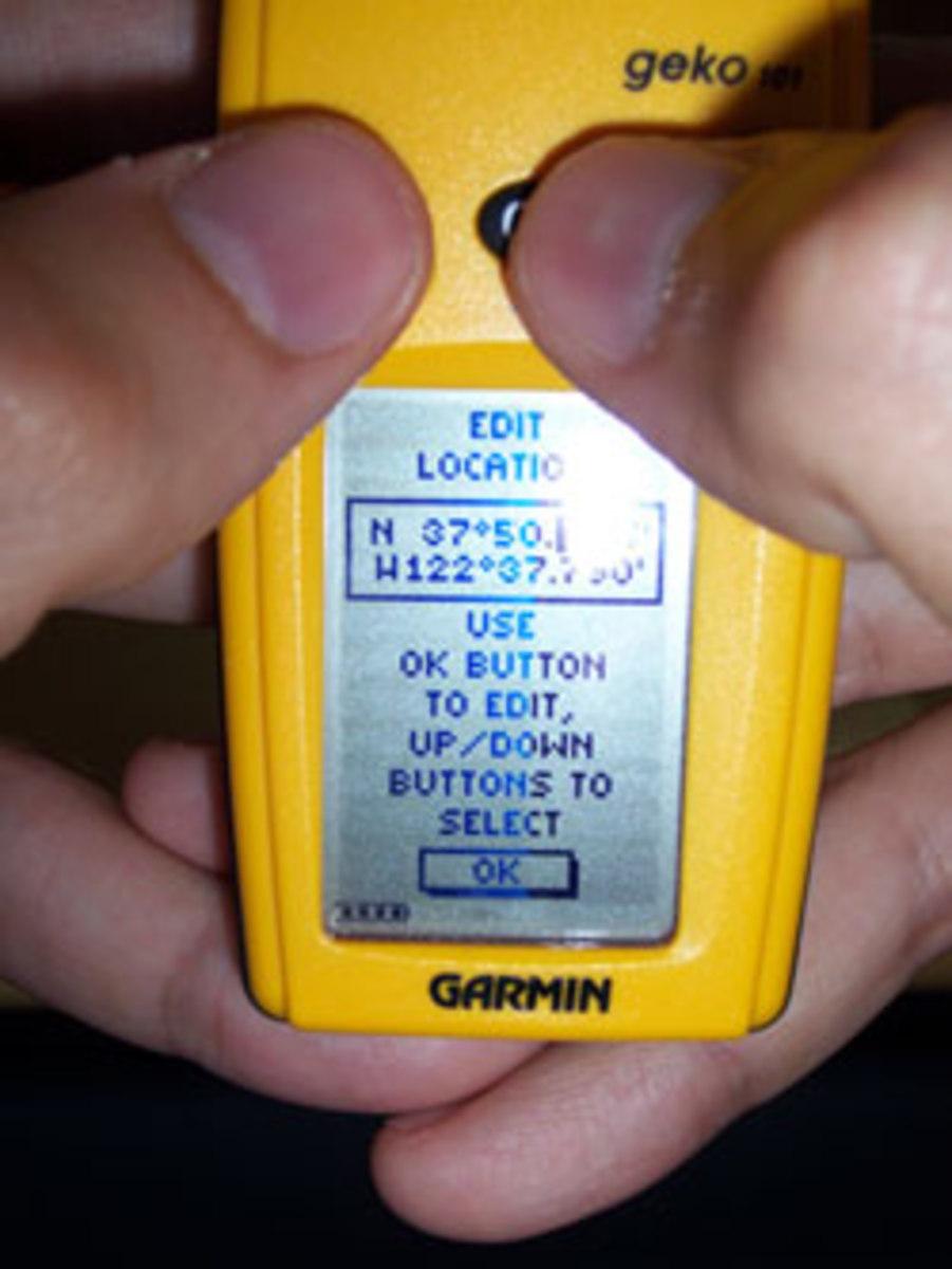 Enter the coordinates carefully!