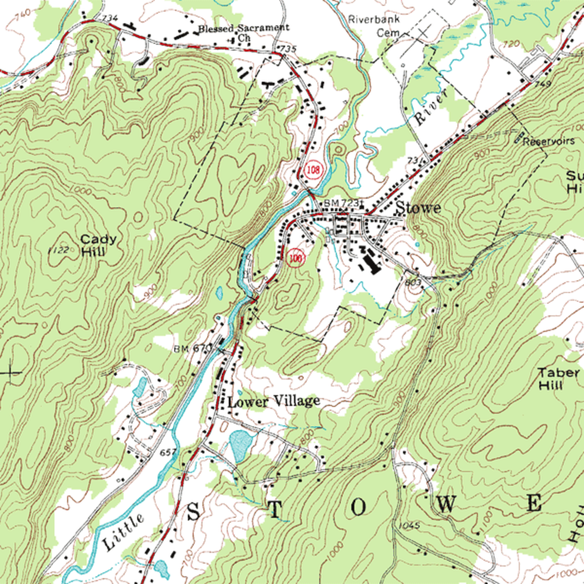 Example of a Topographic Map