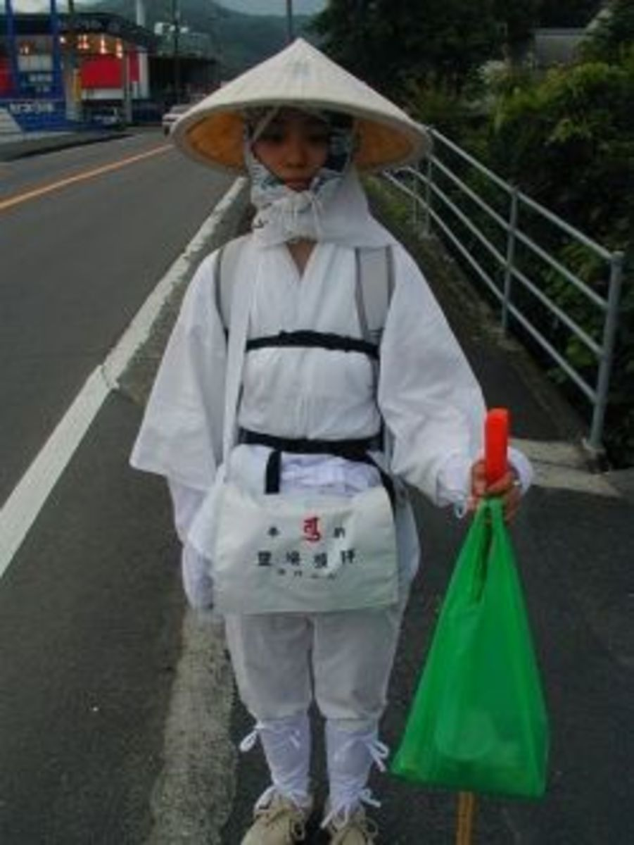 Pilgrim on the 88 Temple Route in Japan