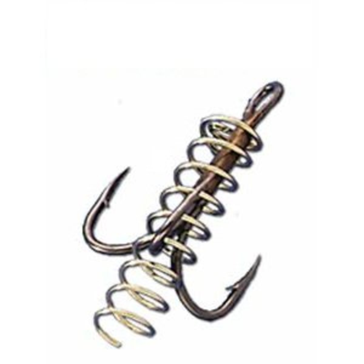 Spring treble hook: made to hold chicken liver or stink bait on the hook. This is the perfect hook to catch catfish with.