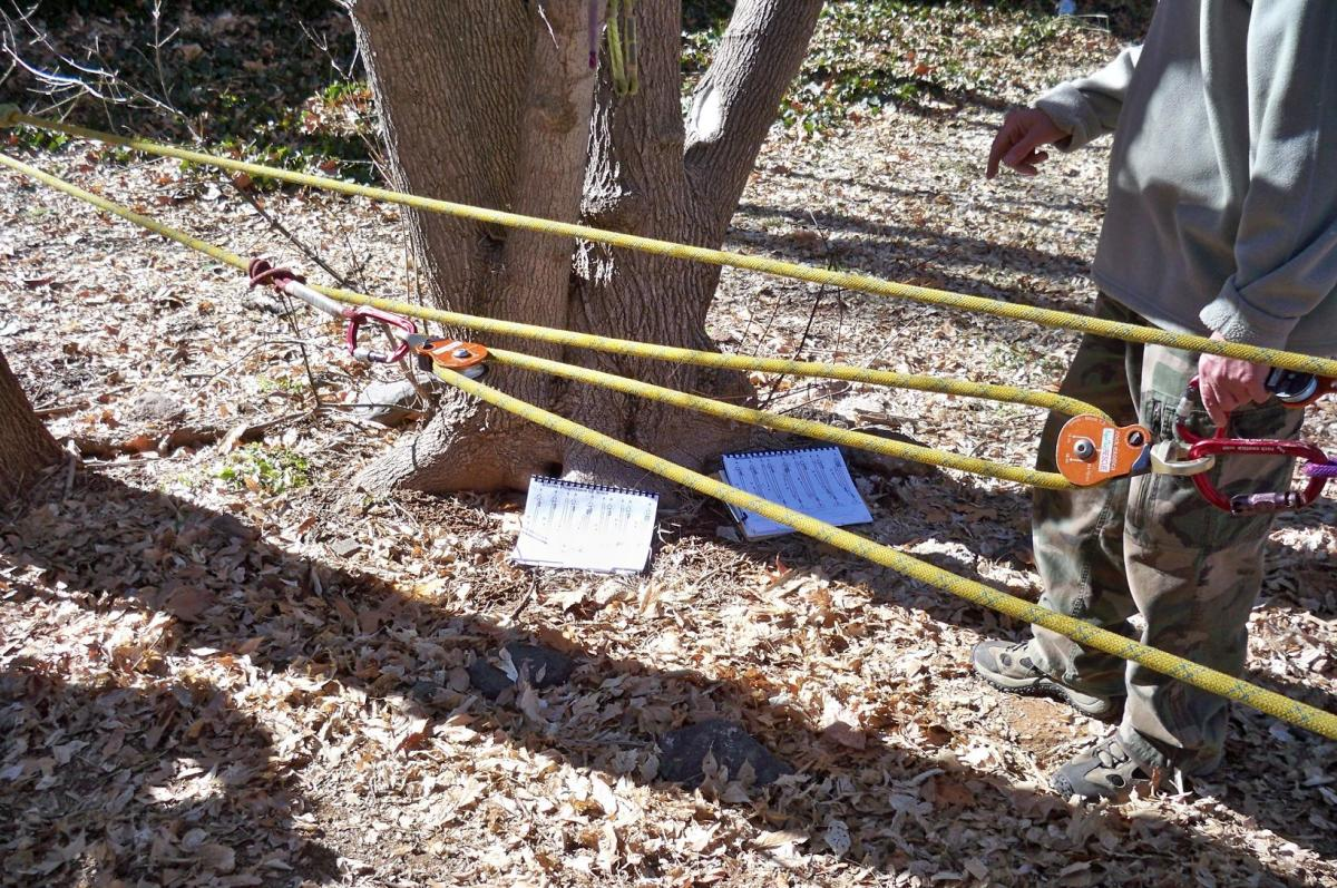 Learning mechanical advantage in a Ropes That Rescue Class