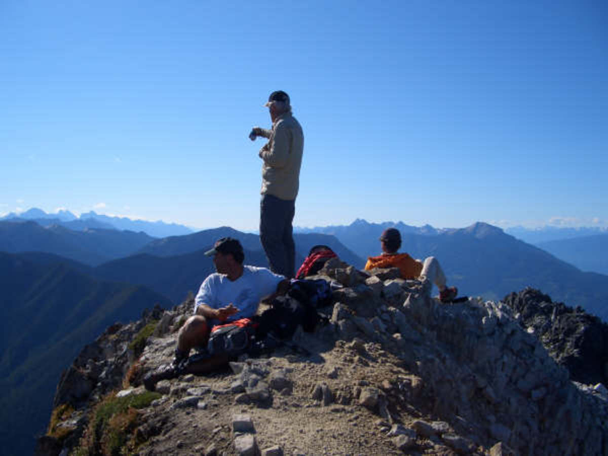 Atop Moberly Peak, my brother Bernie and nephews.