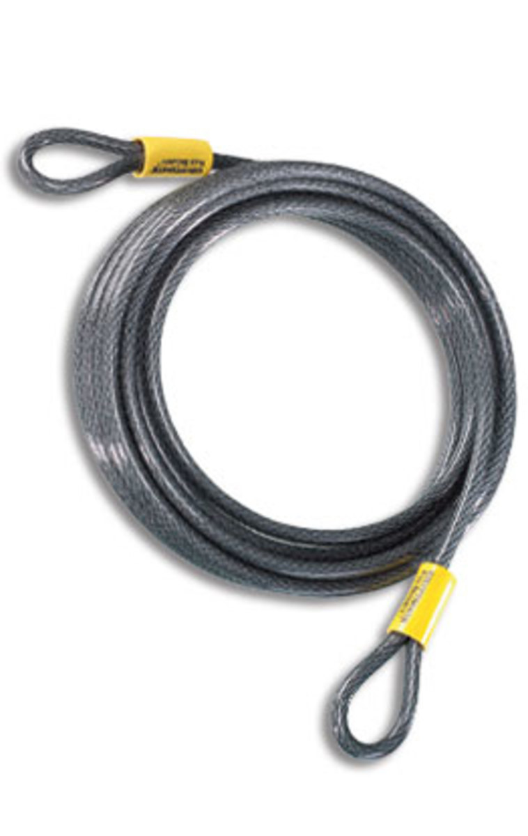 Kryptonite Vinyl Coated Braided Steel Cable