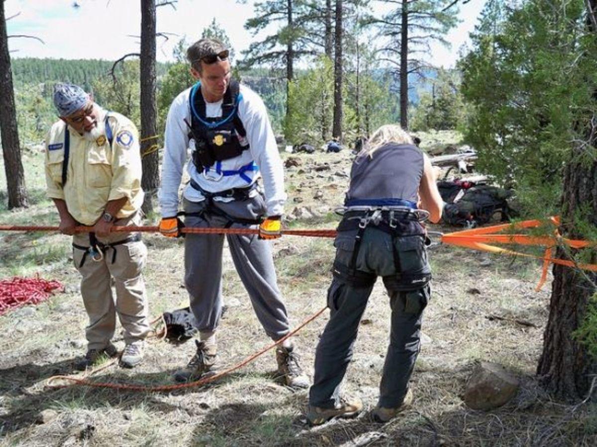 Rock rescue: Tension back tie