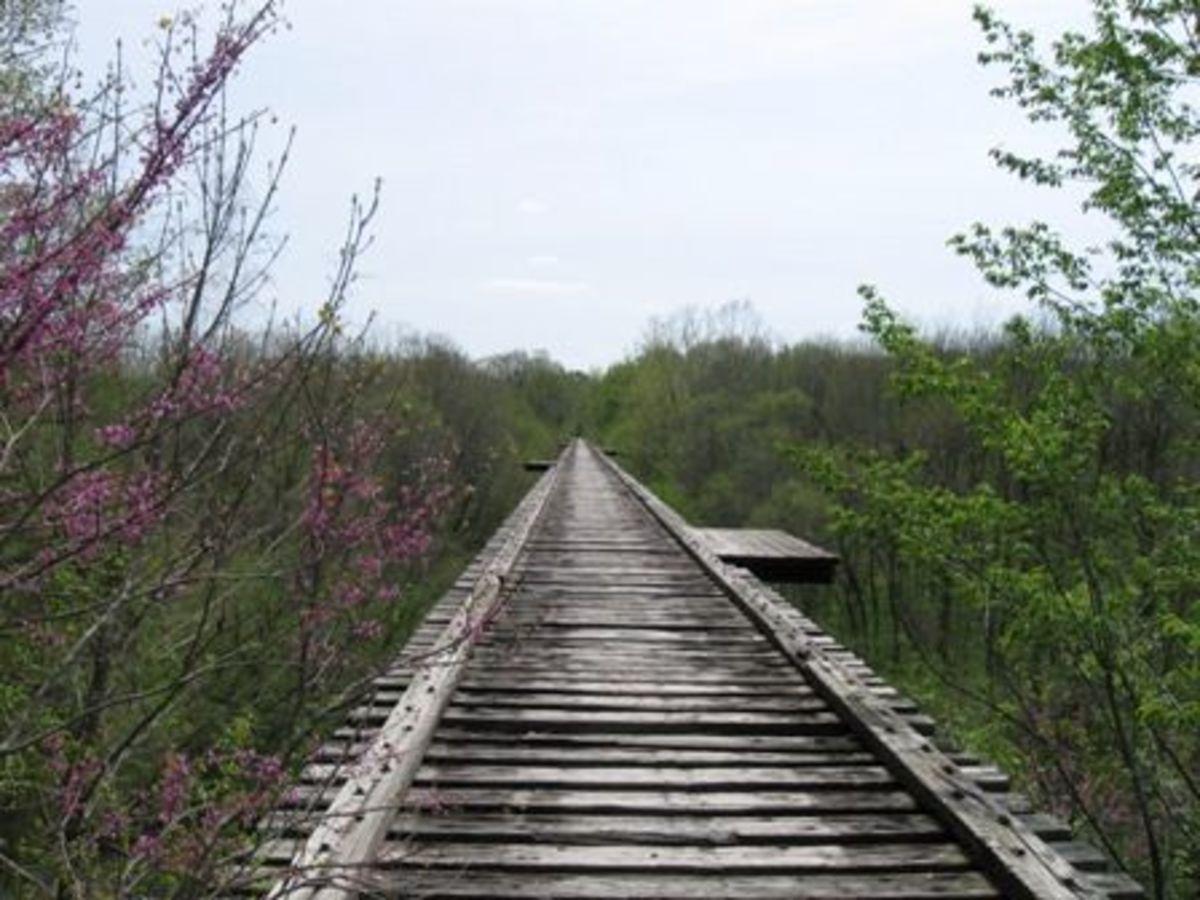 High Bridge near Delphi, Indiana. Part of the old Monon line.