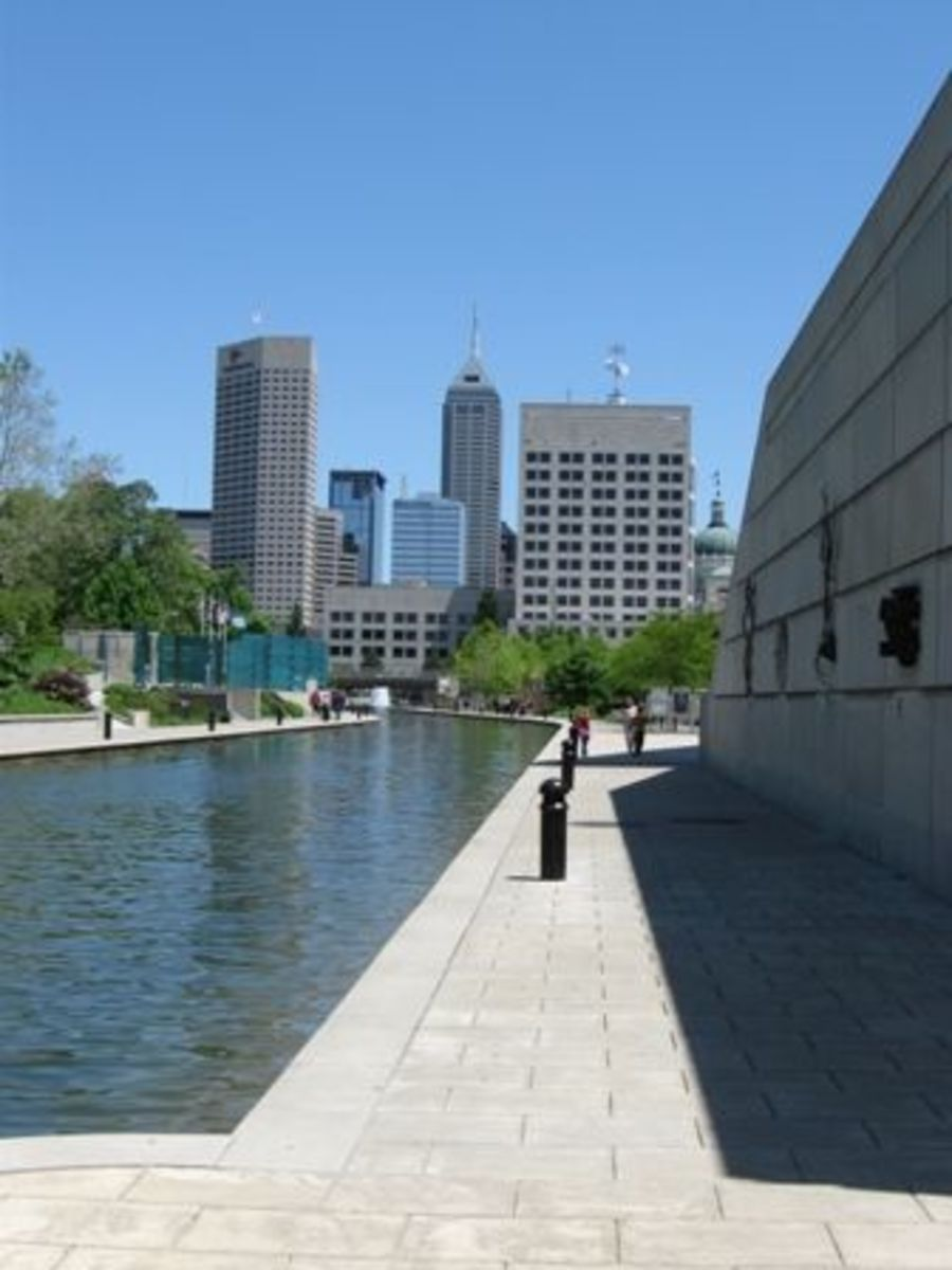 Along the canal in downtown Indianapolis