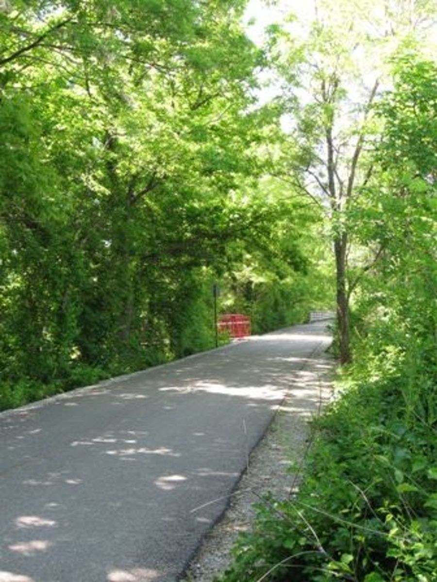 The Monon Trail just outside of Carmel, Indiana