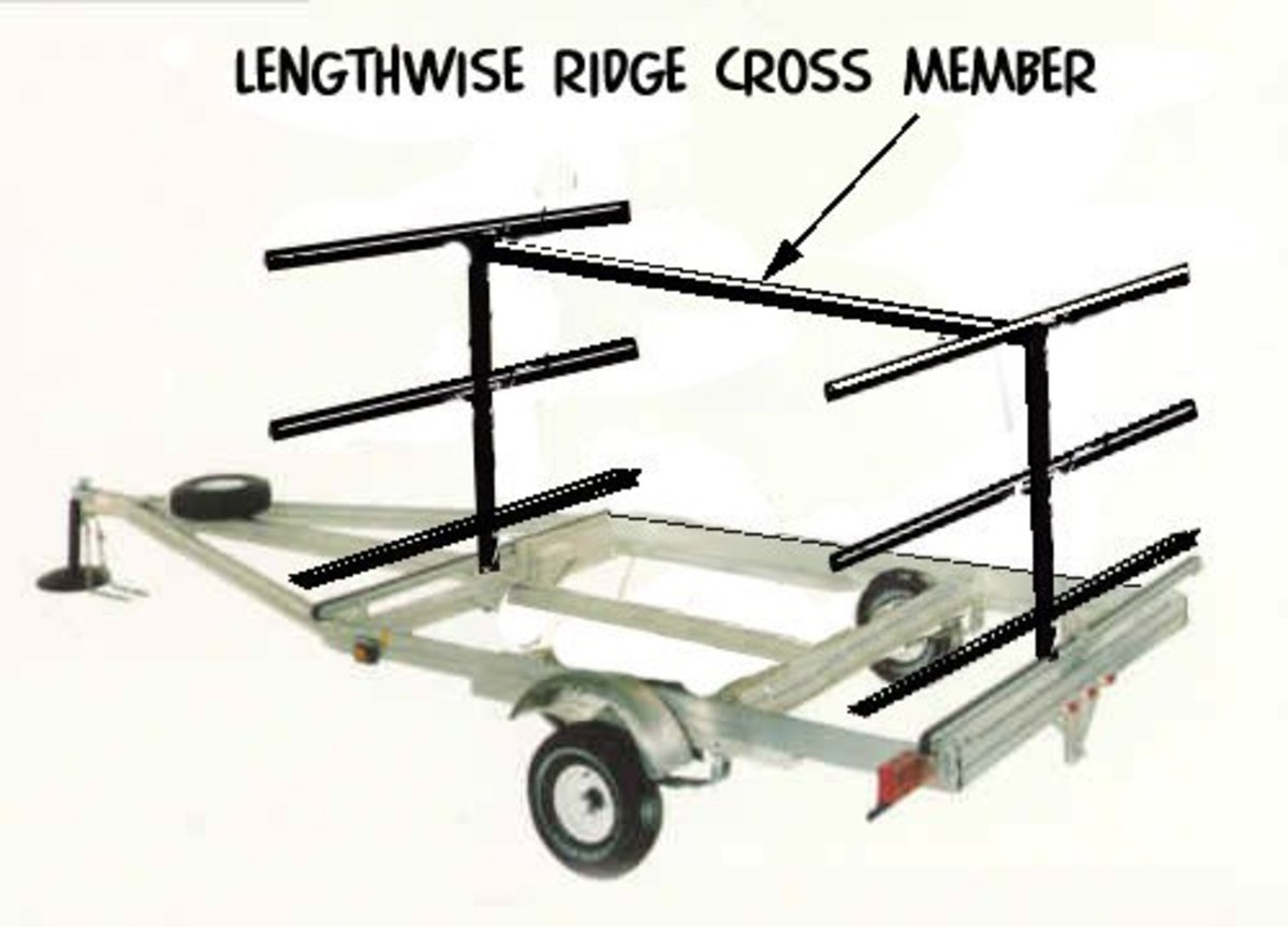Weld a lengthwise ridge support cross member across the top between the front and rear cross trees
