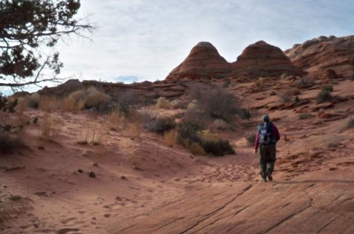 Head for the Twin Buttes, not necessarily for other people's footprints.