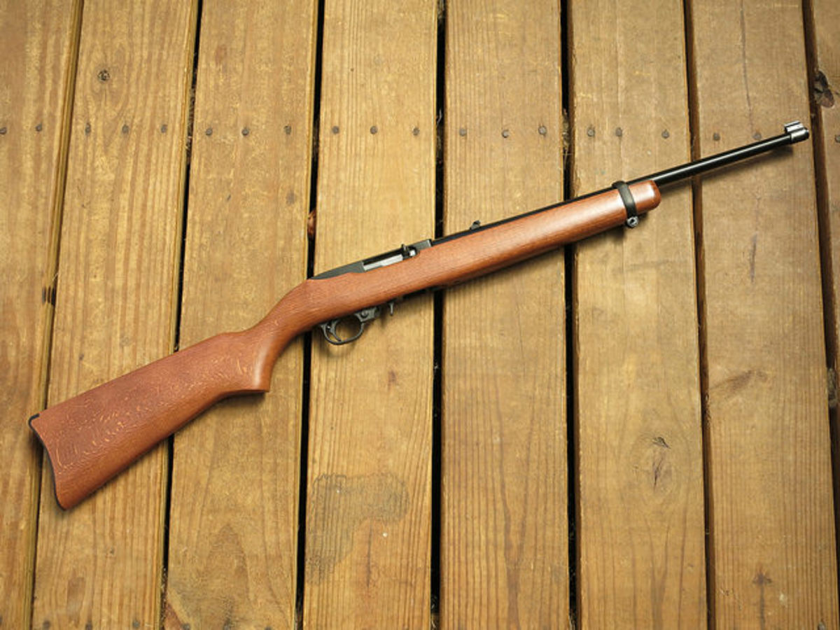 The Ruger 10/22 is a classic, reliable, small game hunting option. Its wide use has generated a very extensive line of after-market upgrades, making it easy to tailor to your particular taste.