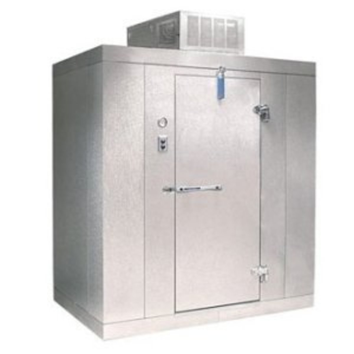 A walk-in meat cooler or meat safe.