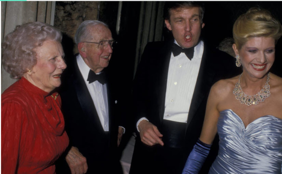 Trump, Ivana, Peale and wife at his 90th birthday Party
