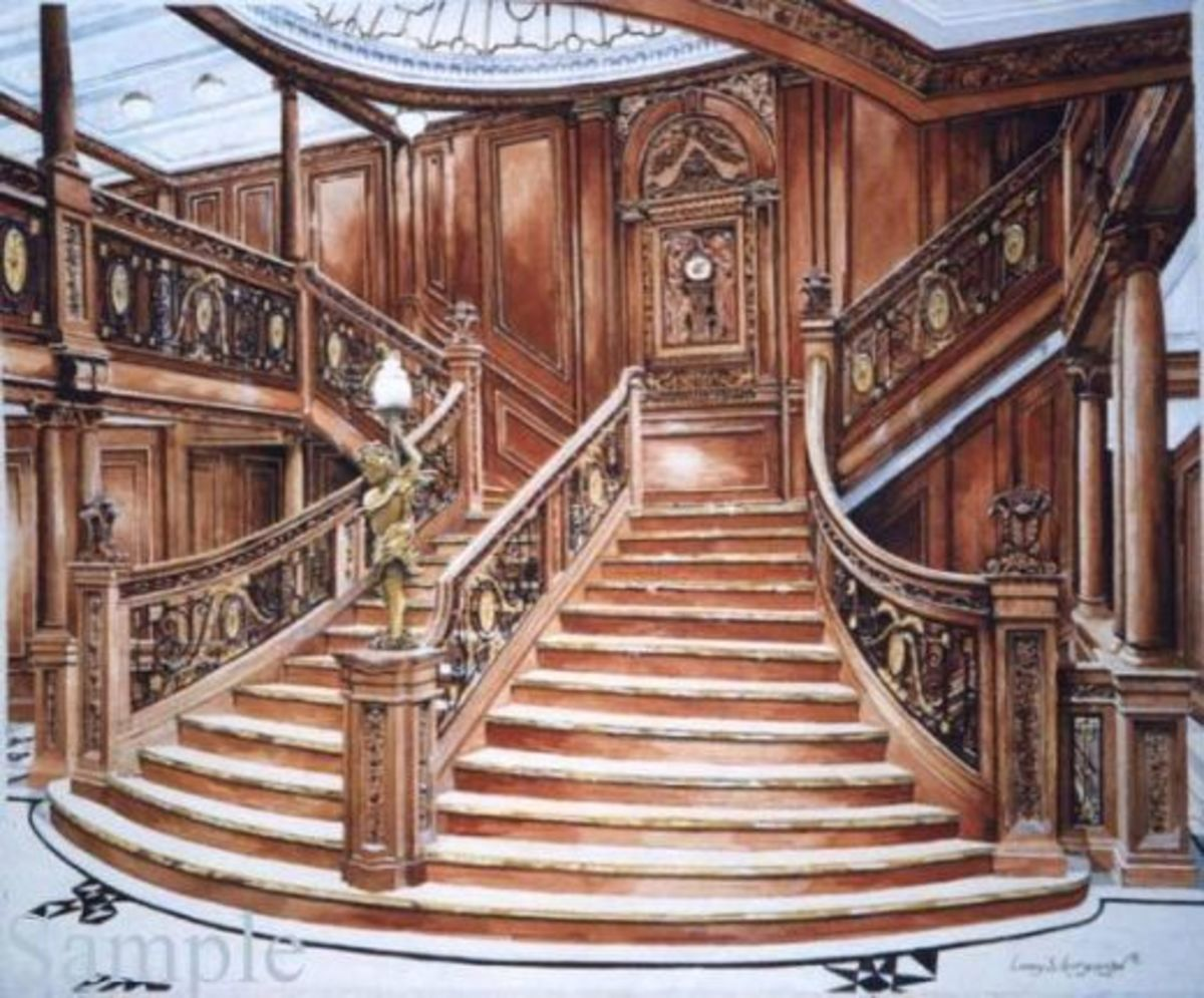 The Titanic Grand Staircase: an exaggeratedly elegant form of the companionway